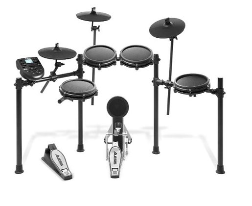 Alesis NITRO-MESH-KIT 8-Piece Drum Kit With Kick Pedal, Drum Rack and Mesh Heads