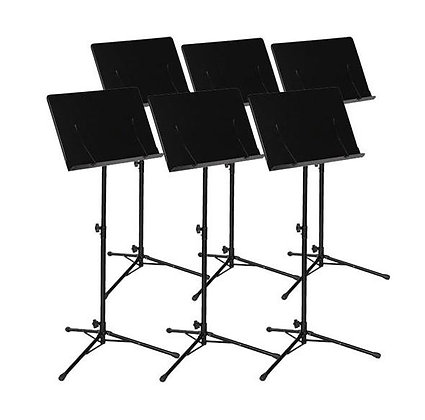 Ravel Conductor Music Stand, Black - 6 Stand Value Pack