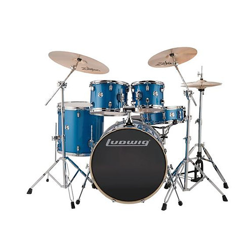 Ludwig LCEE22023 Element Evolution 5-piece Drum Set with Zildjian ZBT Cymbals or