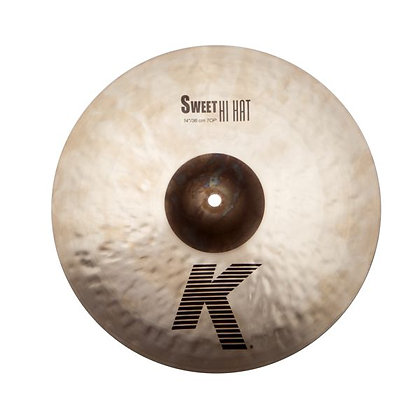 "Zildjian K0721 14"" Thin Hi-Hat Top Cymbal with Unlathed Bell"
