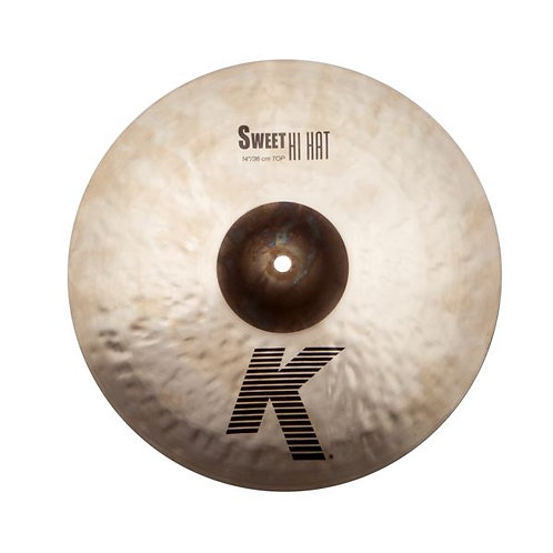 """Zildjian K0721 14"""" Thin Hi-Hat Top Cymbal with Unlathed Bell"""