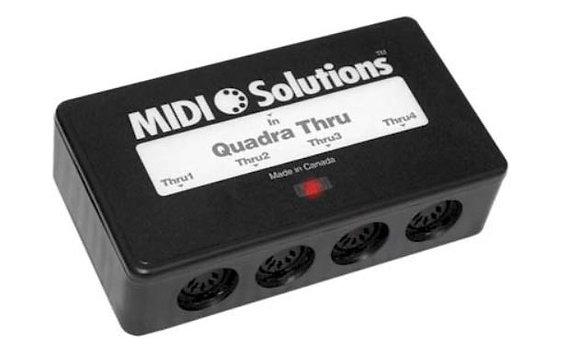 MIDI Solutions QUADRA-THRU 4-Output Active MIDI Thru Box