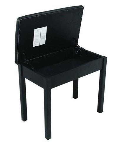 "On-Stage KB8902B 19.5"" Flip-Top Wooden Keyboard Bench, Black"