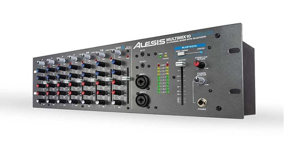 Alesis MultiMix 10 Wireless 10-Channel Rackmount Mixer With Articulating Bluetoo