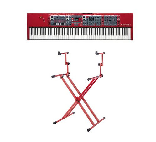 Nord Stage 3 88 Keyboard Bundle 88-Key Digital Stage Piano with Two Tier X Style