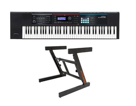Roland JUNO-DS76 Synthesizer Bundle Synthesizer Bundle with KS-10Z Keyboard Stan