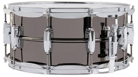 "Ludwig LB417 6.5""x14"" Black Beauty Brass Snare Drum iin Black Nickel Finish"
