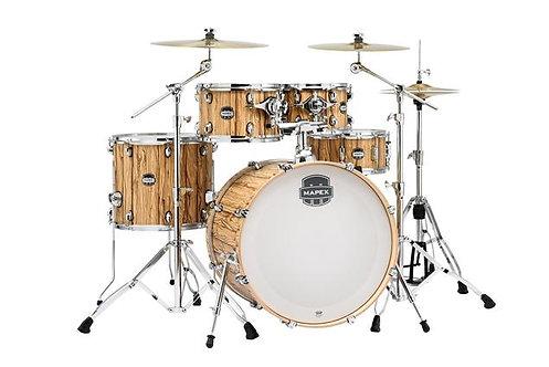 """Mapex Mars Series 5-Piece Rock Shell Pack w/ 22"""" Bass Drum - Driftwood"""