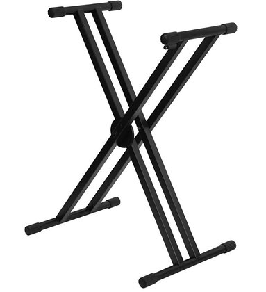 On Stage KS7291ERGO-LOK Double-X Keyboard Stand with Welded Construction