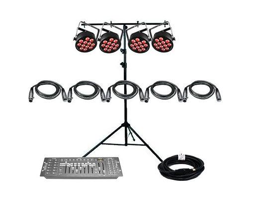 Chauvet DJ SLIMPART12USB - 4 Par Light Kit Part Number:  Chauvet DJ SLIMP