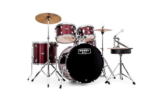 "Mapex RB5294FTCDR Rebel 5-Piece Drum Set w/ Hardware & Cymbals - Dark Red w/ 22"""