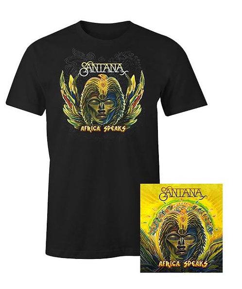 SANTANA - AFRICA SPEAKS CD & T-SHIRT PACKAGE