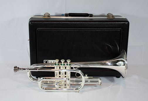 F.E. Olds Student Cornet, Silver Plated (Blowout)