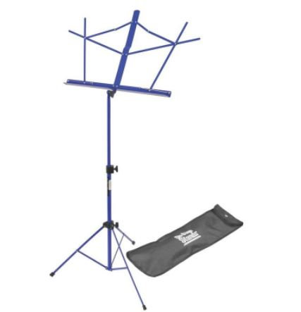 On-Stage SM7122DBB Compact Sheet Music Stand (Dark Blue, w/ Bag)