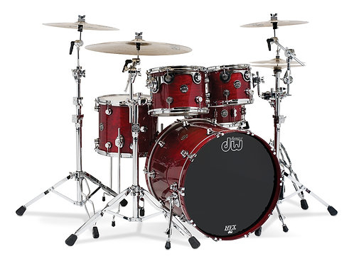 DW DRKTPLC04BB Performance Series Rock 4-Piece Shell Pack with Lacquer Finish