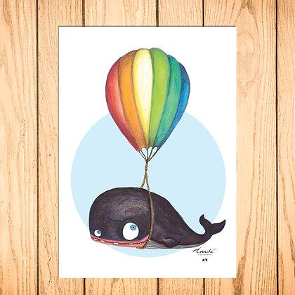 La baleine volante