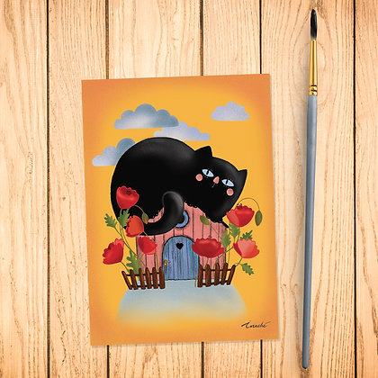 Carte postale Chat noir
