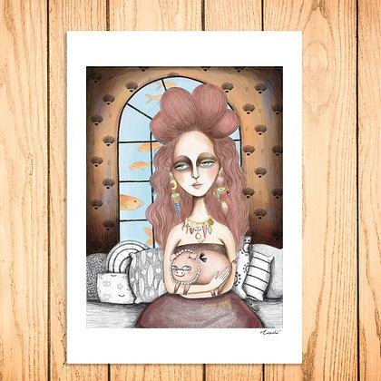 Lady avec cochon