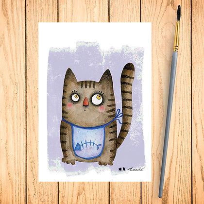 Carte postale Petit chat