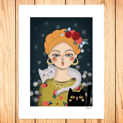 Lady et ses chats n°2