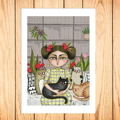 Lady et ses chats