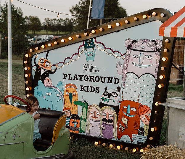 bannière, banner, illustration, festival, whitesummers, Costa Brava, Espagne, Spain, espace jeu, enfants