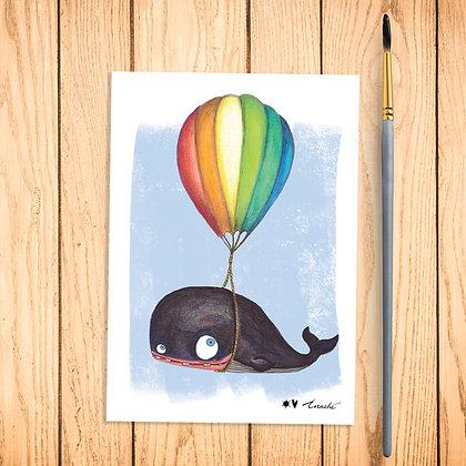 Carte postale La baleine