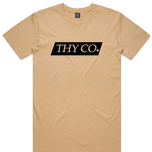 ThY Co. Box logo Tee - Tan
