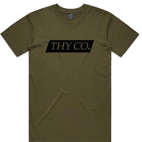 ThY Co. Box logo Tee - Army