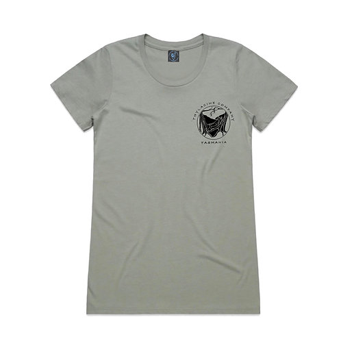 In To The Wild Ladies Slim Fit Tee - Oyster
