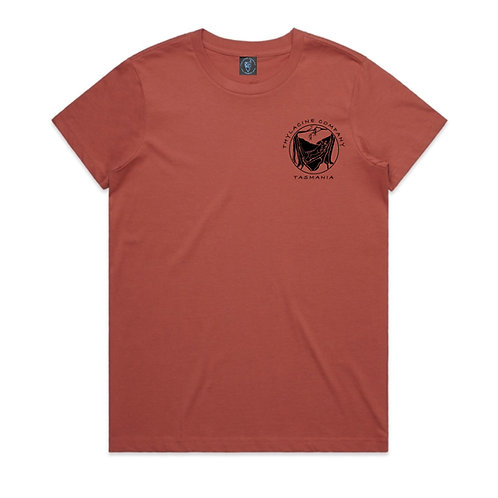 In To The Wild Ladies Tee - Coral