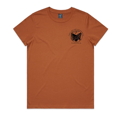 In To The Wild Ladies Tee - Copper