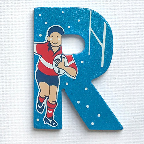 Letter R (Rugby Player)