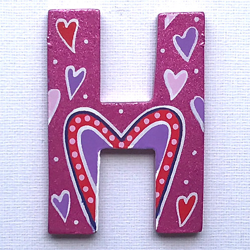 Letter H (Hearts)