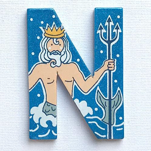 Letter N (Neptune)