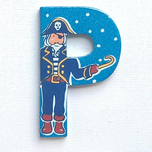 Letter P (Pirate)