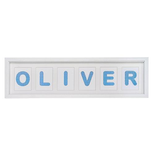 6 Letter Name (Showing 'Stars' design)