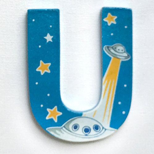 Letter U (UFO)