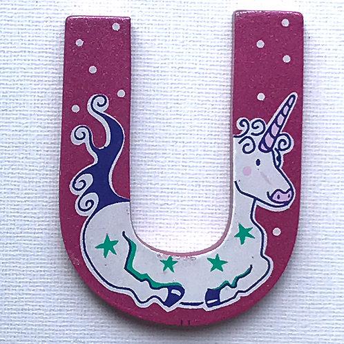 LETTER U (Unicorn)
