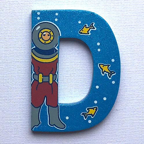 Letter D (Diver)