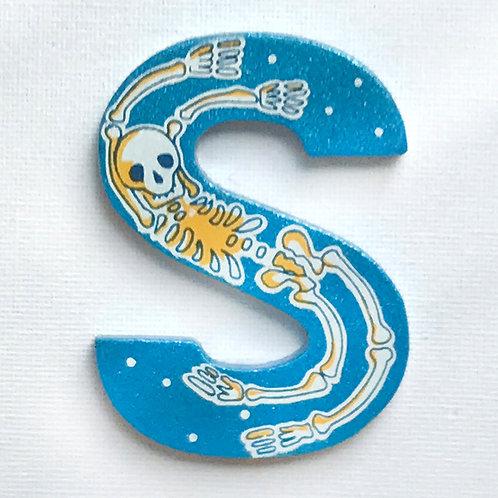 Letter S (Skeleton)