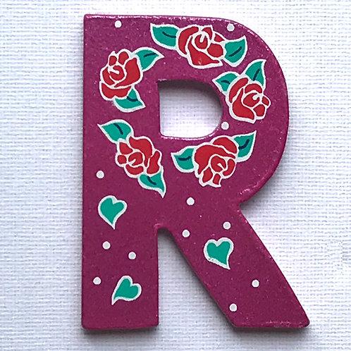 Letter R (Roses)