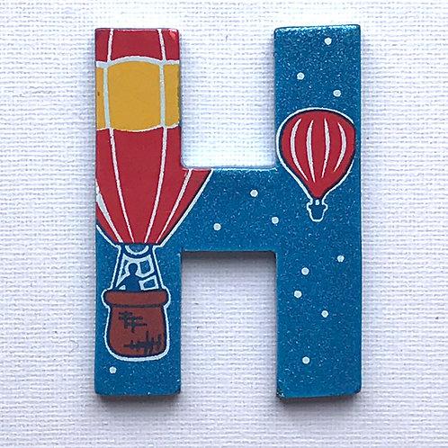 Letter H (Hot Air Balloon)