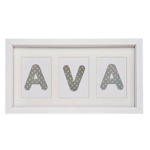 3 Letter Name (Showing 'Spots' design)