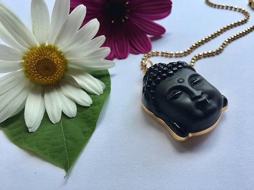 Black Water Lotus Necklace