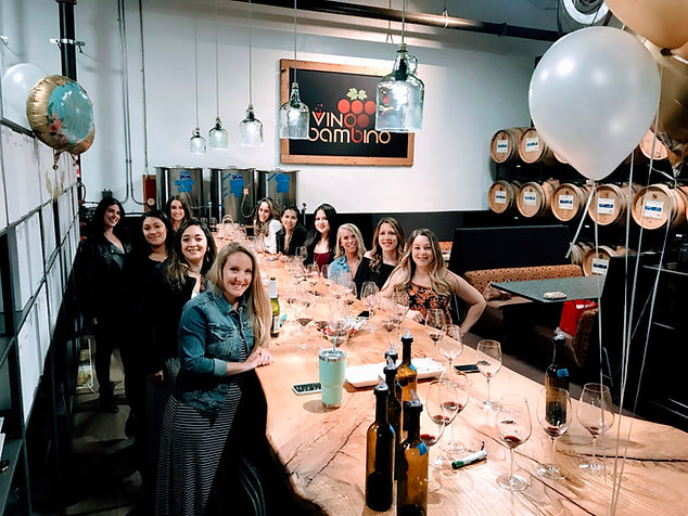 Vino Bambino Winery Bachelorette Party W