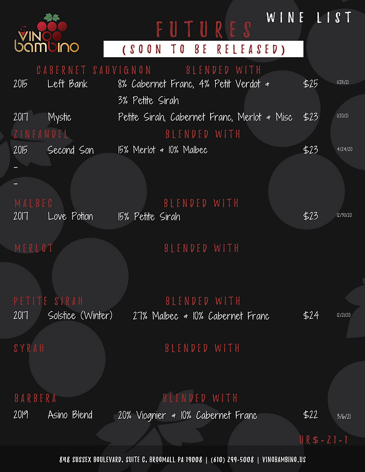 Vino Bambino Winery | Soon To Be Release