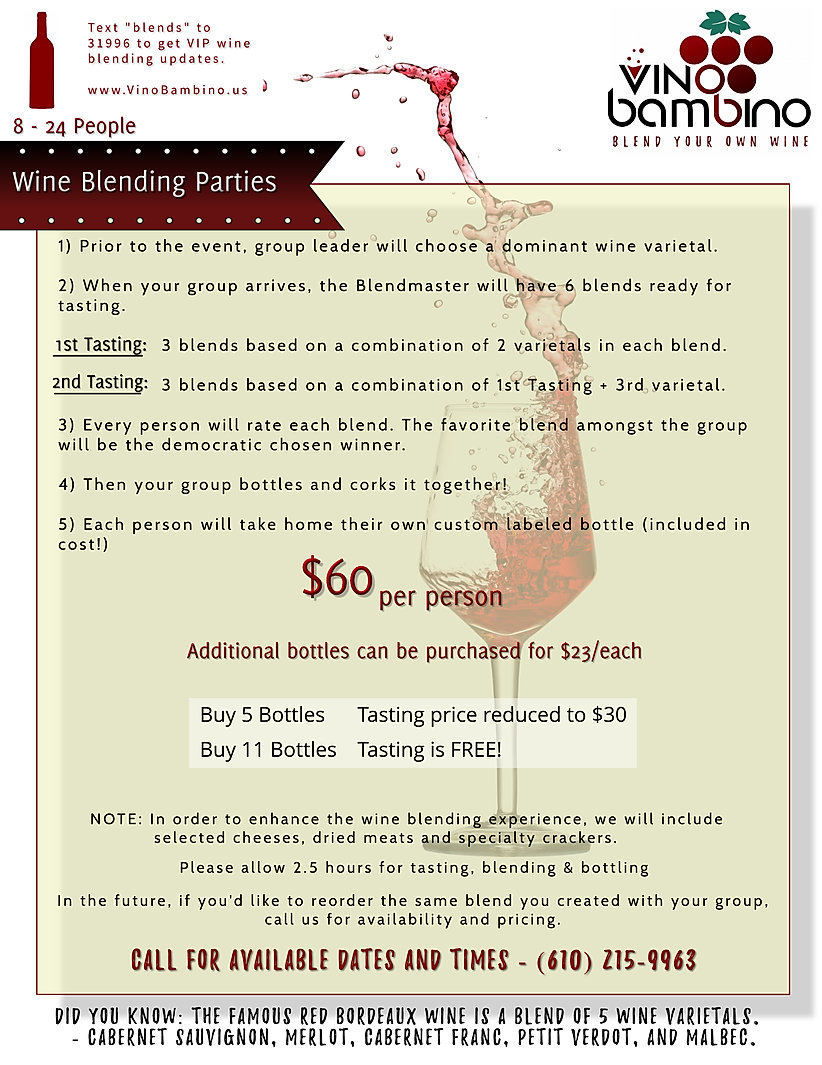Vino Bambino - Wine Blending Events