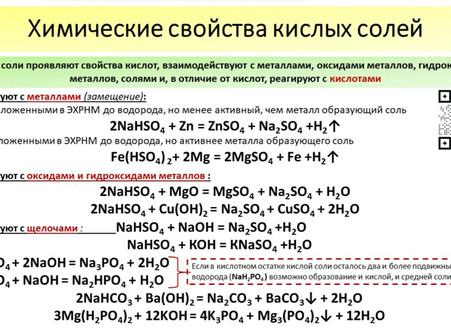 Некислые реакции :) кислых солей. Подготовка к ЕГЭ по химии