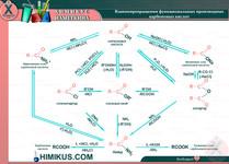 Взаимопревращения функиональных производных карбоновых кислот